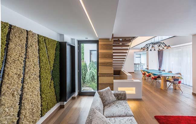 Mẫu biệt thự phố đẹp với thiết kế hiện đại sang trọng