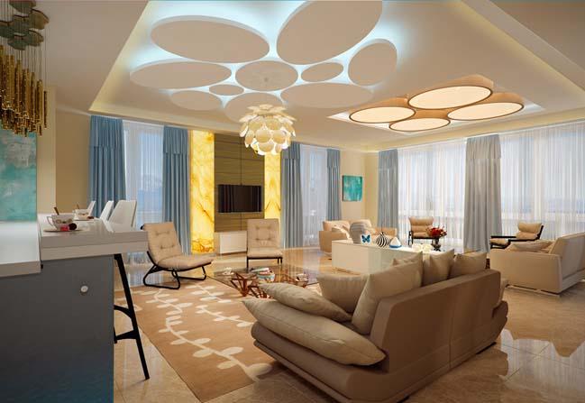 Những mẫu đèn chùm đẹp cho phòng khách