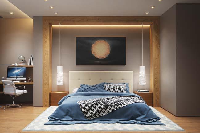 20 mẫu phòng ngủ đẹp nhờ hiệu ứng ánh sáng