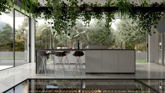 Những mẫu nhà bếp đẹp hiện đại với không gian xanh