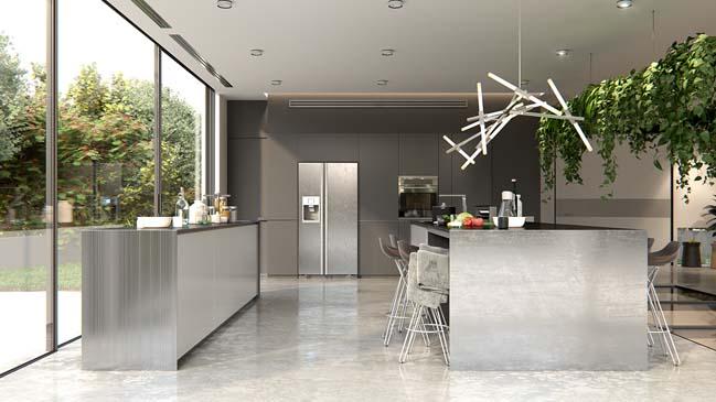 nha bep dep voi khong gian xanh 03 Những mẫu nhà bếp đẹp hiện đại với không gian xanh tươi mát trong nhà