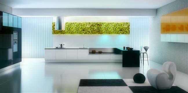 nha bep dep voi khong gian xanh 04 Những mẫu nhà bếp đẹp hiện đại với không gian xanh tươi mát trong nhà
