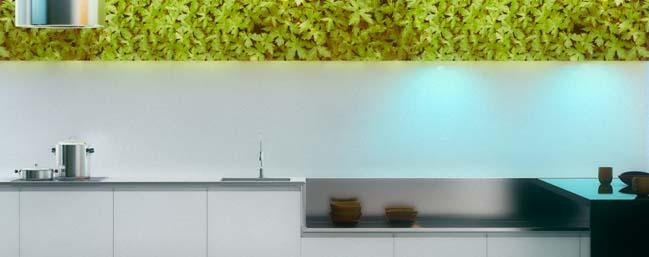 nha bep dep voi khong gian xanh 05 Những mẫu nhà bếp đẹp hiện đại với không gian xanh tươi mát trong nhà