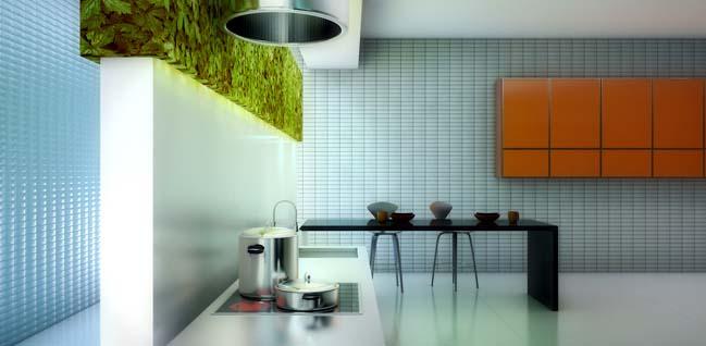 nha bep dep voi khong gian xanh 06 Những mẫu nhà bếp đẹp hiện đại với không gian xanh tươi mát trong nhà