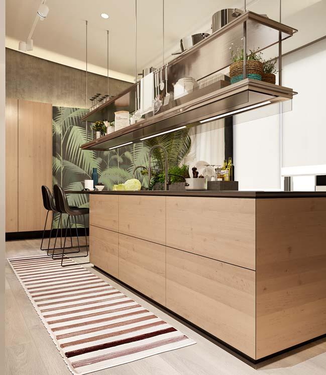 nha bep dep voi khong gian xanh 08 Những mẫu nhà bếp đẹp hiện đại với không gian xanh tươi mát trong nhà