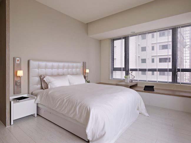 phong ngu dep mau trang 05 Chia sẻ 20+ mẫu phòng ngủ đẹp với tông màu trắng
