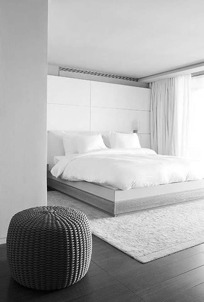 phong ngu dep mau trang 07 Chia sẻ 20+ mẫu phòng ngủ đẹp với tông màu trắng