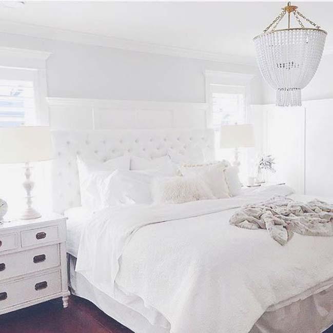 phong ngu dep mau trang 08 Chia sẻ 20+ mẫu phòng ngủ đẹp với tông màu trắng