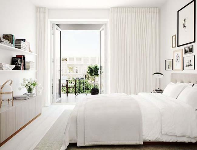 phong ngu dep mau trang 09 Chia sẻ 20+ mẫu phòng ngủ đẹp với tông màu trắng
