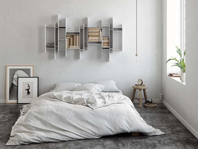 phong ngu dep mau trang 11 Chia sẻ 20+ mẫu phòng ngủ đẹp với tông màu trắng