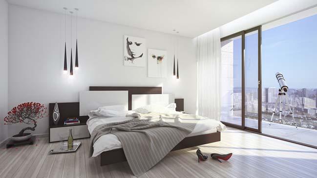 phong ngu dep mau trang 12 Chia sẻ 20+ mẫu phòng ngủ đẹp với tông màu trắng