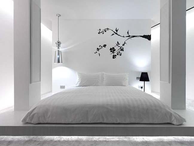 phong ngu dep mau trang 13 Chia sẻ 20+ mẫu phòng ngủ đẹp với tông màu trắng