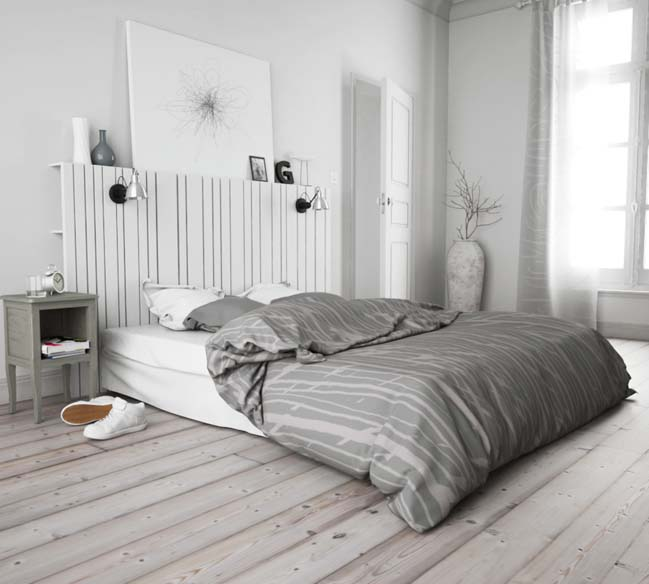 phong ngu dep mau trang 14 Chia sẻ 20+ mẫu phòng ngủ đẹp với tông màu trắng