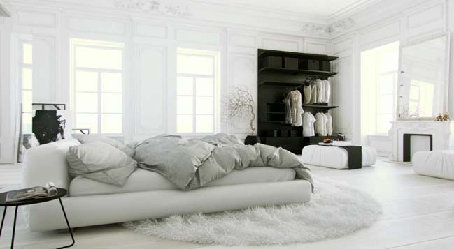 phong ngu dep mau trang 15 Chia sẻ 20+ mẫu phòng ngủ đẹp với tông màu trắng