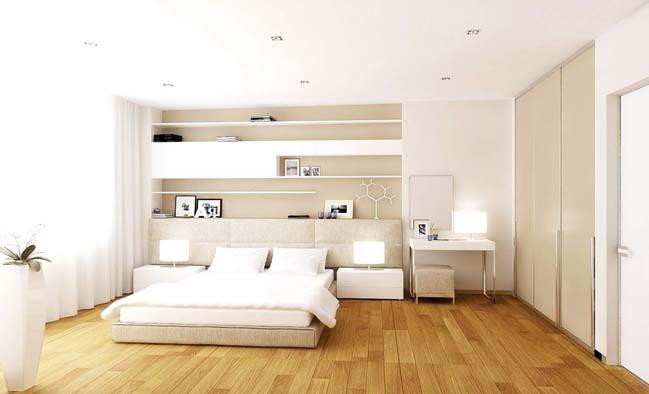 phong ngu dep mau trang 23 Chia sẻ 20+ mẫu phòng ngủ đẹp với tông màu trắng