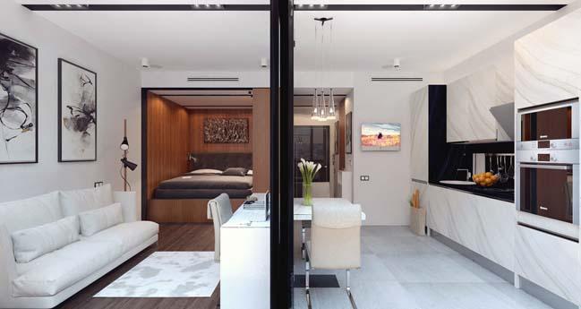 Mẫu thiết kế nội thất đẹp cho căn hộ 30m2