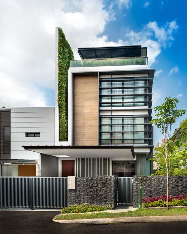 Mẫu biệt thự đẹp với mảng tường xanh