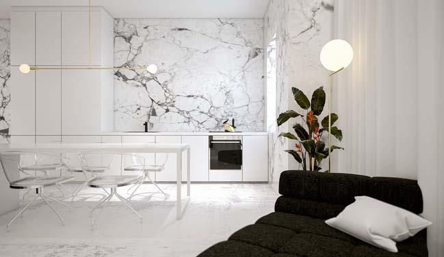 Mê mẩn căn hộ sang trọng với màu trắng chủ đạo