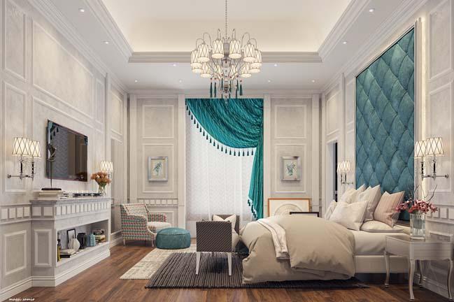 phong ngu dep voi thiet ke co dien 02 Chia sẻ 10+ mẫu phòng ngủ đẹp với thiết kế cổ điển sang trọng