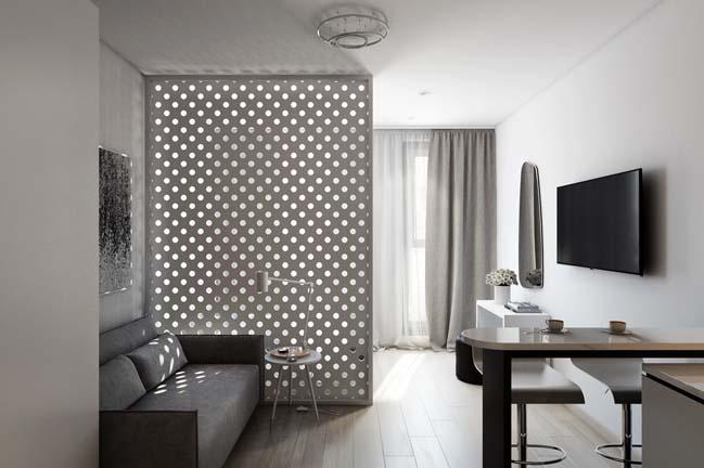 nha nho dep 30m2 01 Mẫu nhà nhỏ đẹp với phong cách tối giản với 1 tông màu trắng duy nhất