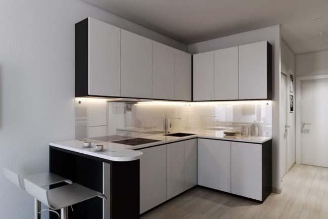 nha nho dep 30m2 04 Mẫu nhà nhỏ đẹp với phong cách tối giản với 1 tông màu trắng duy nhất