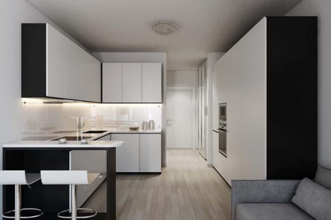 nha nho dep 30m2 05 Mẫu nhà nhỏ đẹp với phong cách tối giản với 1 tông màu trắng duy nhất