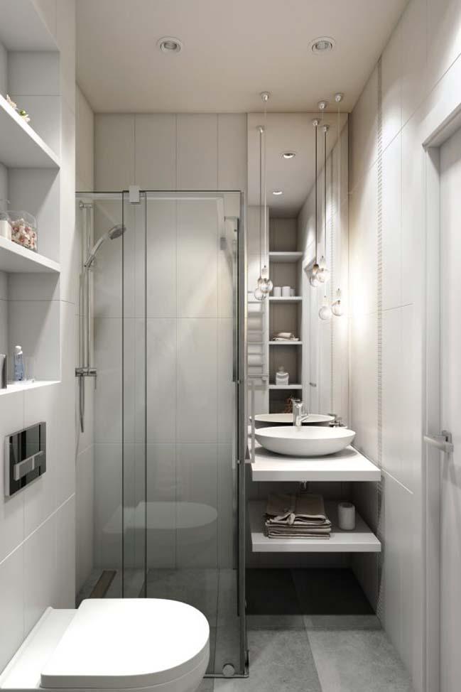 nha nho dep 30m2 06 Mẫu nhà nhỏ đẹp với phong cách tối giản với 1 tông màu trắng duy nhất