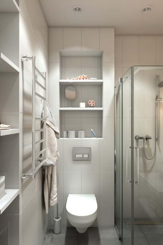 nha nho dep 30m2 07 Mẫu nhà nhỏ đẹp với phong cách tối giản với 1 tông màu trắng duy nhất