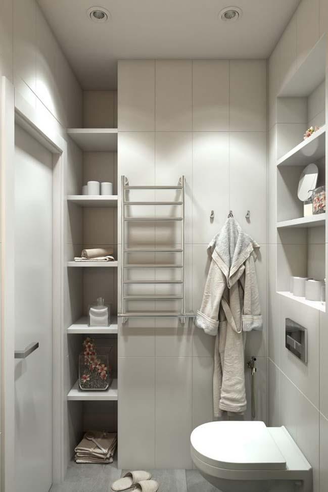 nha nho dep 30m2 08 Mẫu nhà nhỏ đẹp với phong cách tối giản với 1 tông màu trắng duy nhất