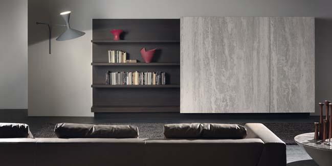 mau phong khach dep toi gian 04 Gợi ý mẫu thiết kế kệ tủ đẹp ẩn giấu tivi cho phòng khách