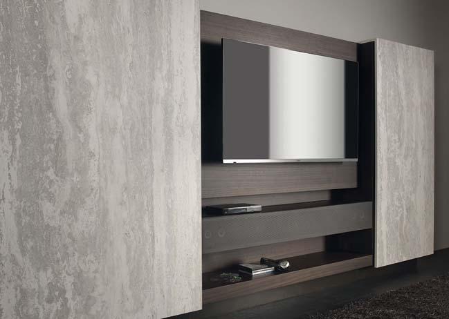 mau phong khach dep toi gian 05 Gợi ý mẫu thiết kế kệ tủ đẹp ẩn giấu tivi cho phòng khách