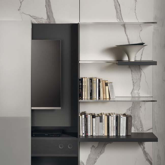 mau phong khach dep toi gian 09 Gợi ý mẫu thiết kế kệ tủ đẹp ẩn giấu tivi cho phòng khách