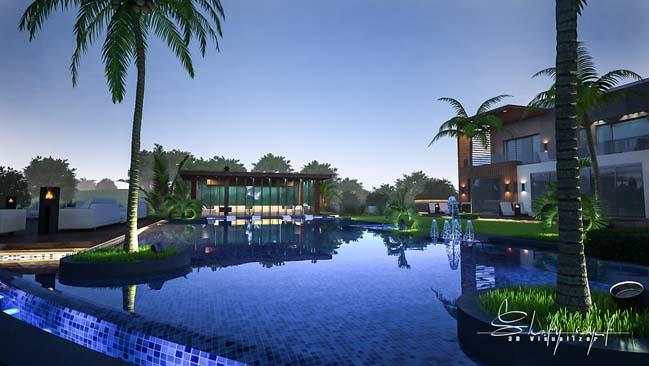 biet thu dep 11 Cùng ngắm mẫu dinh thự đẹp lung linh như resort cao cấp