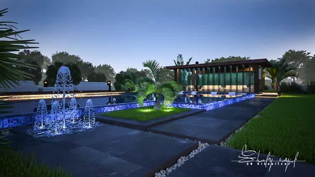 biet thu dep 13 Cùng ngắm mẫu dinh thự đẹp lung linh như resort cao cấp