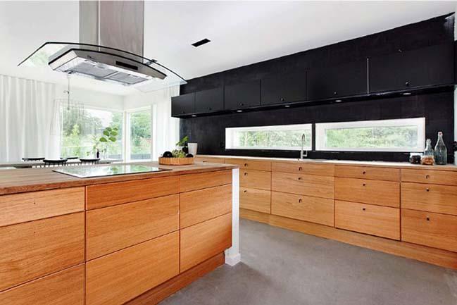 mau nha bep dep voi noi that go 03 Chia sẻ 20 mẫu nhà bếp đẹp với nội thất gỗ hiện đại