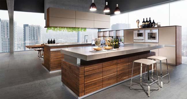 mau nha bep dep voi noi that go 04 Chia sẻ 20 mẫu nhà bếp đẹp với nội thất gỗ hiện đại
