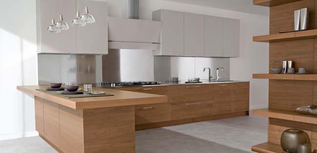 mau nha bep dep voi noi that go 06 Chia sẻ 20 mẫu nhà bếp đẹp với nội thất gỗ hiện đại
