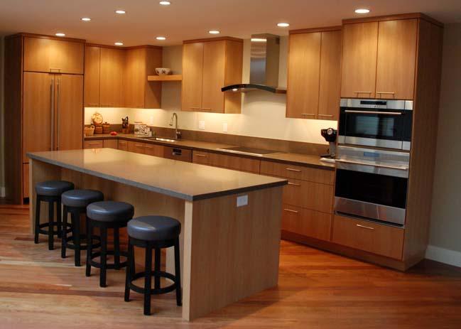 mau nha bep dep voi noi that go 08 Chia sẻ 20 mẫu nhà bếp đẹp với nội thất gỗ hiện đại