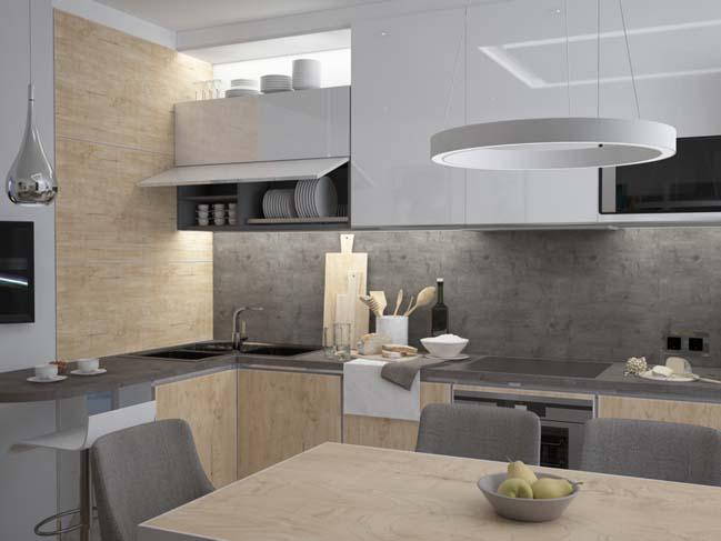 mau nha bep dep voi noi that go 09 Chia sẻ 20 mẫu nhà bếp đẹp với nội thất gỗ hiện đại