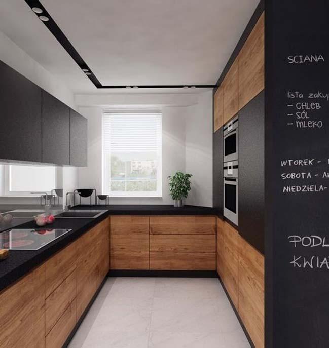 mau nha bep dep voi noi that go 10 Chia sẻ 20 mẫu nhà bếp đẹp với nội thất gỗ hiện đại