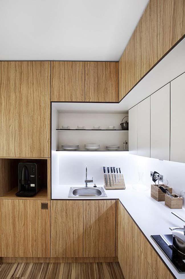 mau nha bep dep voi noi that go 11 Chia sẻ 20 mẫu nhà bếp đẹp với nội thất gỗ hiện đại