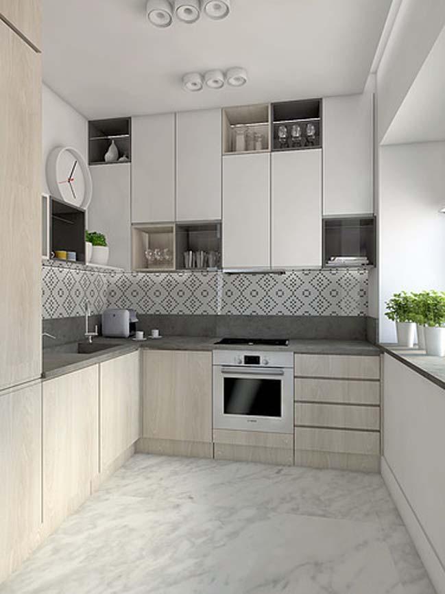 mau nha bep dep voi noi that go 13 Chia sẻ 20 mẫu nhà bếp đẹp với nội thất gỗ hiện đại
