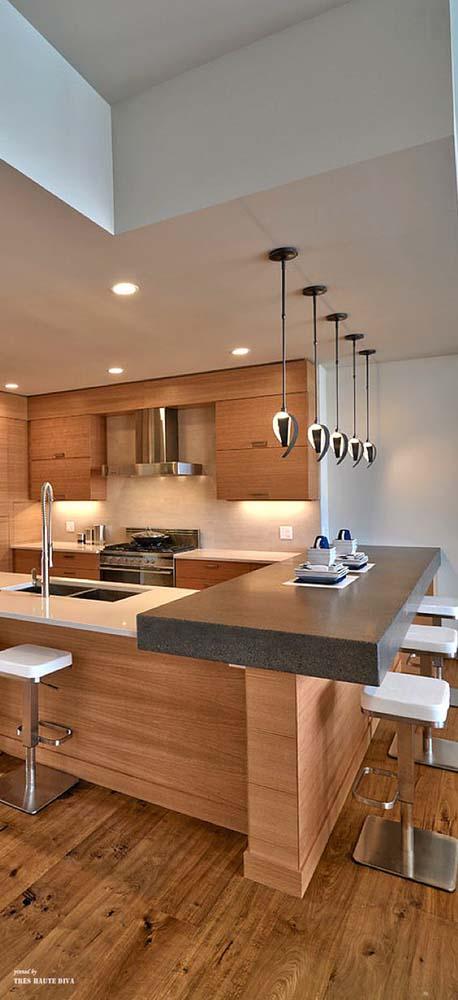 mau nha bep dep voi noi that go 14 Chia sẻ 20 mẫu nhà bếp đẹp với nội thất gỗ hiện đại