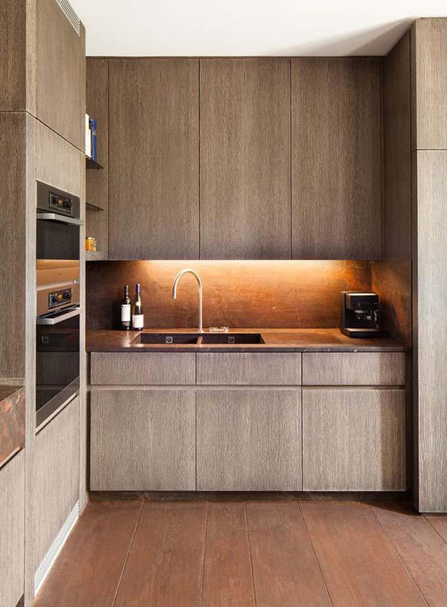 mau nha bep dep voi noi that go 15 Chia sẻ 20 mẫu nhà bếp đẹp với nội thất gỗ hiện đại