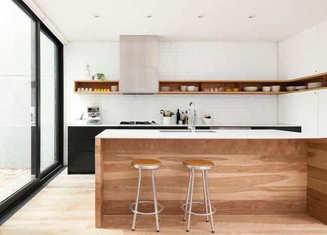 mau nha bep dep voi noi that go 16 Chia sẻ 20 mẫu nhà bếp đẹp với nội thất gỗ hiện đại