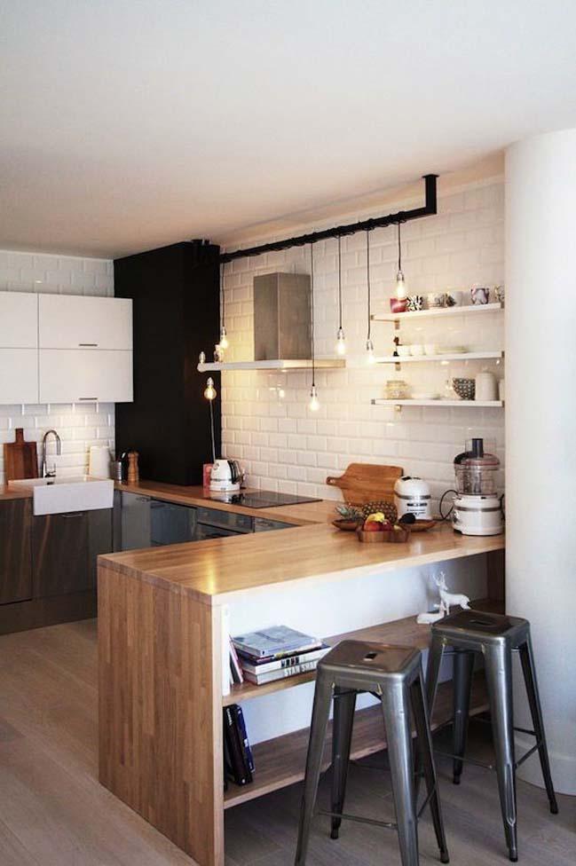 mau nha bep dep voi noi that go 17 Chia sẻ 20 mẫu nhà bếp đẹp với nội thất gỗ hiện đại