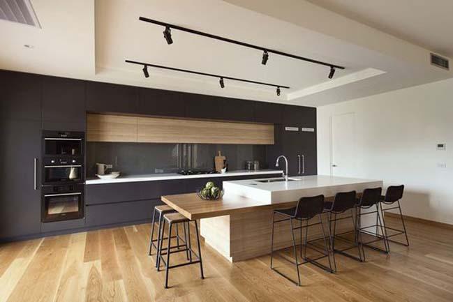 mau nha bep dep voi noi that go 18 Chia sẻ 20 mẫu nhà bếp đẹp với nội thất gỗ hiện đại