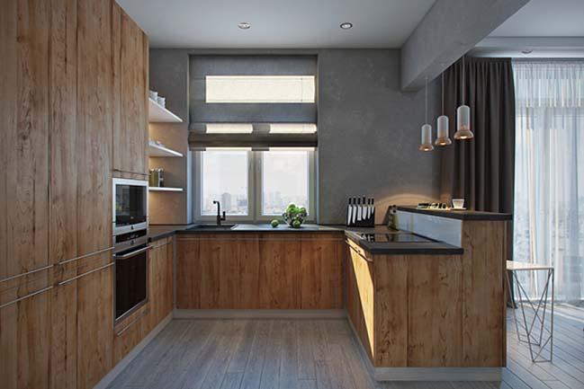 mau nha bep dep voi noi that go 20 Chia sẻ 20 mẫu nhà bếp đẹp với nội thất gỗ hiện đại