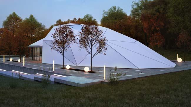 Ngôi nhà đẹp với thiết kế hình vỏ sò giữa thiên nhiên