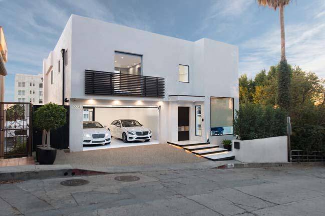Mẫu thiết kế biệt thự đẹp hiện đại với tông màu trắng